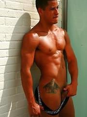 Hugo feeling hot in sun